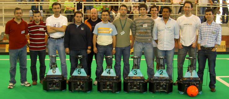 CAMBADA robots and team